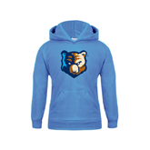 Youth Light Blue Fleece Hoodie-Bruin Head
