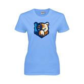 Ladies Sky Blue T-Shirt-Bruin Head