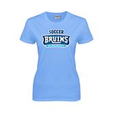 Ladies Sky Blue T-Shirt-Soccer