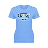 Ladies Sky Blue T-Shirt-Mom