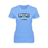 Ladies Sky Blue T-Shirt-Alumni