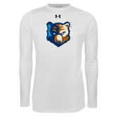 Under Armour White Long Sleeve Tech Tee-Bruin Head