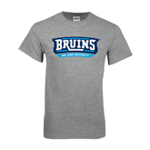 Grey T Shirt-Arched Bruins Shield