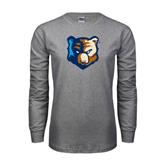 Grey Long Sleeve T-Shirt-Bruin Head