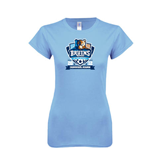 Ladies SoftStyle Junior Fitted Light Blue Tee-Inaugural Season