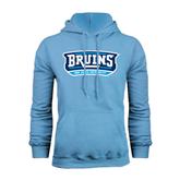 Light Blue Fleece Hoodie-Arched Bruins Shield