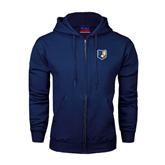 Navy Fleece Full Zip Hoodie-Bruin Head