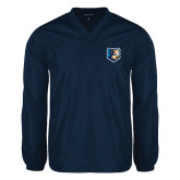 V Neck Navy Raglan Windshirt-Bruin Head