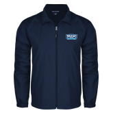 Full Zip Navy Wind Jacket-Arched Bruins Shield