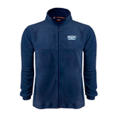 Fleece Full Zip Navy Jacket-Arched Bruins Shield