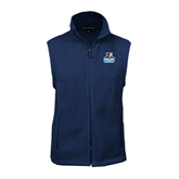 Fleece Full Zip Navy Vest-Official Logo