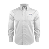 Red House White Long Sleeve Shirt-Arched Bruins Shield