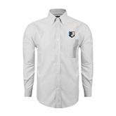 Mens White Oxford Long Sleeve Shirt-Bruin Head