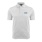 White Dry Mesh Polo-Arched Bruins Shield