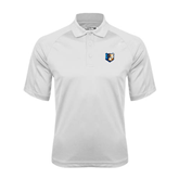 White Textured Saddle Shoulder Polo-Bruin Head