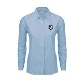 Ladies Light Blue Oxford Shirt-Bruin Head