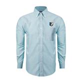Mens Light Blue Oxford Long Sleeve Shirt-Bruin Head