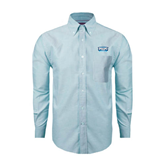 Mens Light Blue Oxford Long Sleeve Shirt-Arched Bruins Shield