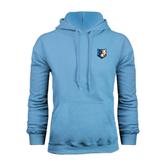 Light Blue Fleece Hoodie-Bruin Head