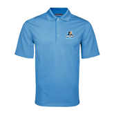 Light Blue Mini Stripe Polo-Official Logo