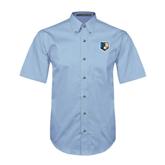 Light Blue Twill Button Down Short Sleeve-Bruin Head
