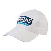 White Heavyweight Twill Pro Style Hat-Arched Bruins Shield