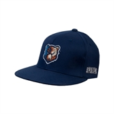 Navy OttoFlex Flat Bill Pro Style Hat-Bruin Head