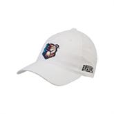 White OttoFlex Unstructured Low Profile Hat-Bruin Head
