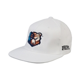 White OttoFlex Flat Bill Pro Style Hat-Bruin Head