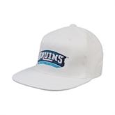 White OttoFlex Flat Bill Pro Style Hat-Arched Bruins Shield