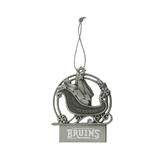 Pewter Sleigh Ornament-Arched Bruins Engraved