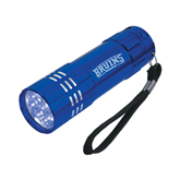 Industrial Triple LED Blue Flashlight-Arched Bruins Engraved
