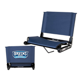 Stadium Chair Navy-Arched Bruins Shield