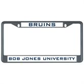 Metal License Plate Frame in Black-Bruins