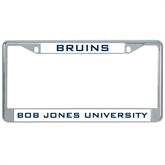 Metal License Plate Frame in Chrome-Bruins
