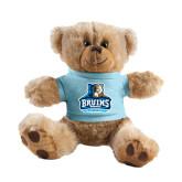 Plush Big Paw 8 1/2 inch Brown Bear w/Light Blue Shirt-Official Logo