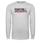 White Long Sleeve T Shirt-Fear the Wildcats
