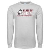White Long Sleeve T Shirt-Class of…, Personalized year