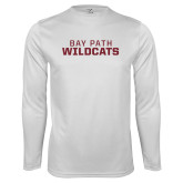 Performance White Longsleeve Shirt-Bay Path Wildcats