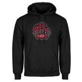 Black Fleece Hoodie-Wildcat Paw
