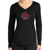 Ladies Syntrel Performance Black Longsleeve Shirt-Wildcat Paw