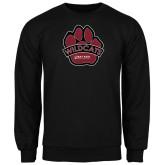 Black Fleece Crew-Wildcat Paw