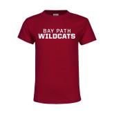 Youth Maroon T Shirt-Bay Path Wildcats