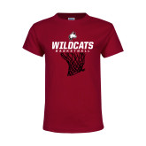 Youth Maroon T Shirt-Basketball Net