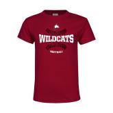 Youth Maroon T Shirt-Softball Seams
