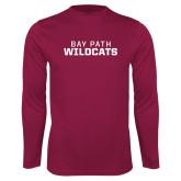 Performance Maroon Longsleeve Shirt-Bay Path Wildcats