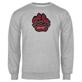 Grey Fleece Crew-Wildcat Paw