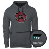 Contemporary Sofspun Charcoal Heather Hoodie-Wildcat Paw