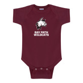 Maroon Infant Onesie-Primary Mark