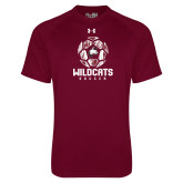 Under Armour Maroon Tech Tee-Distressed Soccer Ball